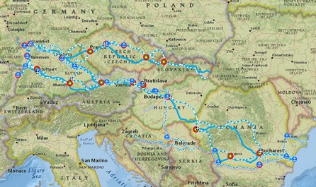 Link to the interactive map Rhine-Danube
