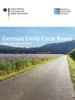 "Cover of the flyer ""German Unity Cycle Route"""