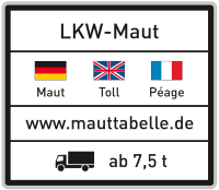 Image of a toll sign for German Roads